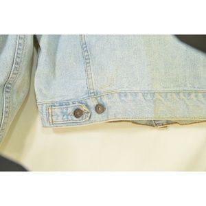 Levi's Jackets & Coats - Levi's jacket men SZ M jeans denim light wash 100%
